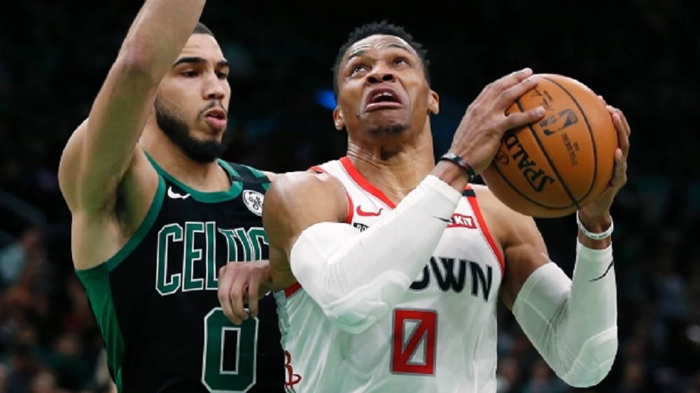 Berita Basket NBA   Cetak 41 Poin, Russell Westbrook Tumbangkan Celtics via Overtime.